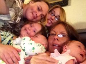 Pile of aunts and nieces