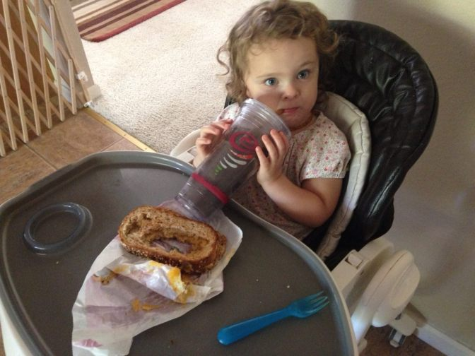 My Daughter Conducts Grilled Cheese Mining Operations