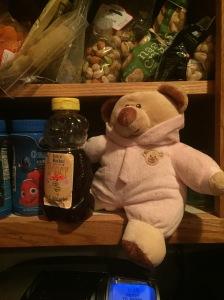Caught sneaking honey again.