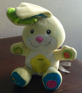 It's a bunny. And he's yellow.