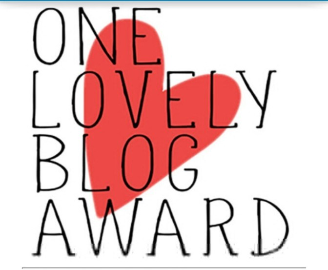 Nominated for a One Lovely Blog Award :)