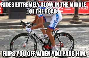 Funny-Bicycle-Meme-Rides-Extremely-Slow-In-The-Middle-Of-The-Road-Picture
