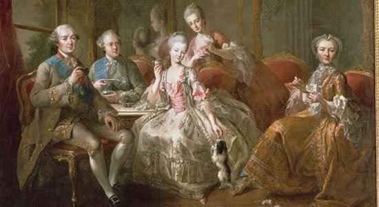 History-of-chocolate-franceThe-Family-of-the-Duke-of-Penthièvre-tasse-du-chocolat-jean-paul-charpentier