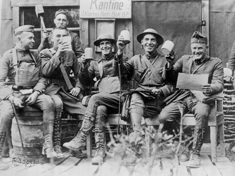 officers-celebrate-at-captured-german-canteen.jpg